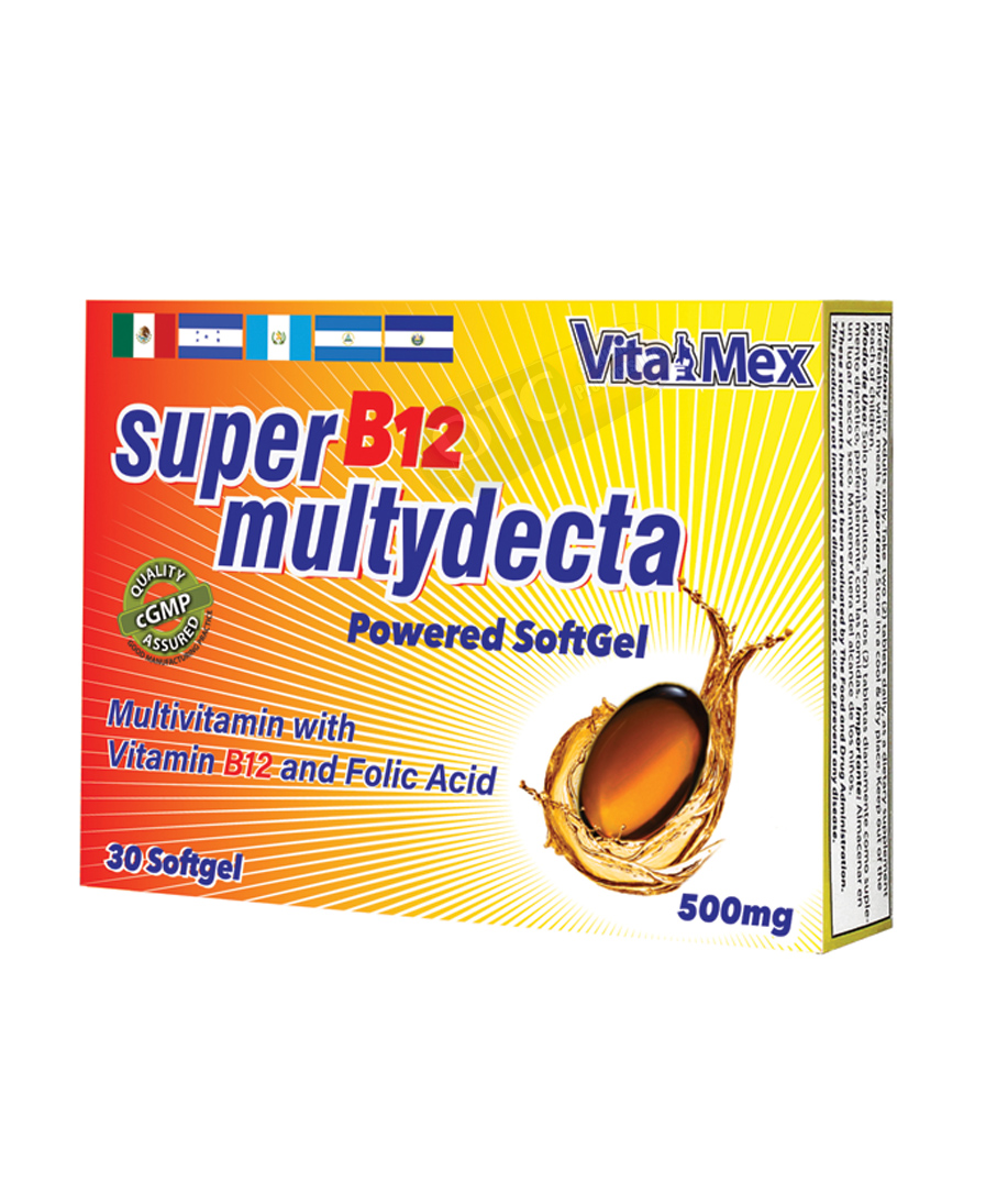 Super B12 Multydecta 30 Softge | SKU: 1476 |