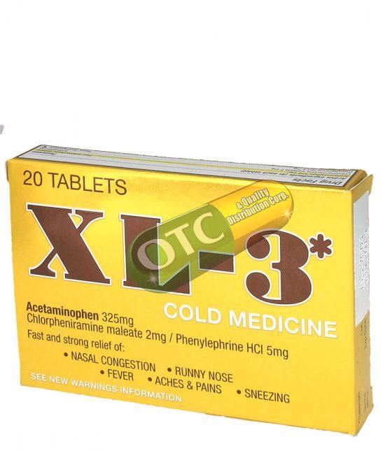 Xl-3 Cold Medicine 20 Tabs   SKU: 1568  